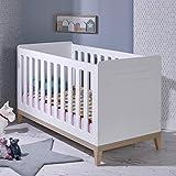 Alfred & Compagnie - Cuna de bebé evolutiva (70 x 140 cm), color blanco