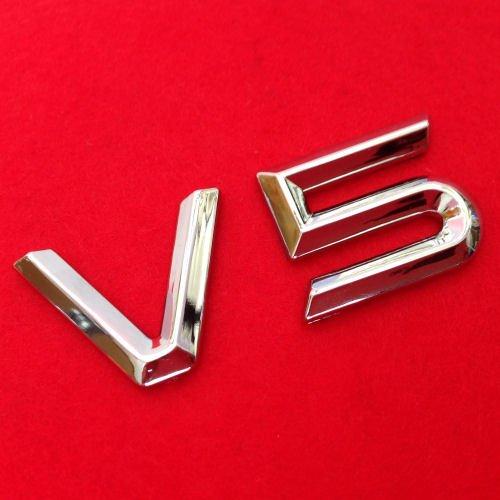 V5 Emblem Zeichen Chrom Schriftzug Auto Aufkleber Motorhaube Kotflügel Logo 3D