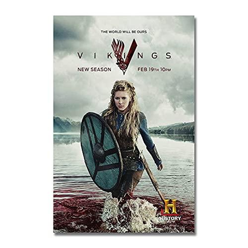 xinxinxiangrong Póster de la Serie Vikings TV, póster de Pintura en Lienzo para la decoración del hogar de la Sala de Estar A700 50 × 70cm sin Marco