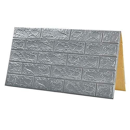 seveni Wandaufkleber 3D Brick Adhesive Wall, DIY Selbstklebende wasserdichte Wandplatte, Moderne Wandaufkleber Dekor für Badezimmer, Wohnzimmer und Küche, Büro, TV Hintergrund 70x77cm