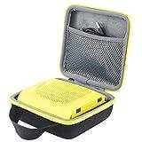 co2crea Hard Travel Case for Bose SoundLink Color 2 Bluetooth Speaker II (Black Case + Yellow Citrus Zipper)