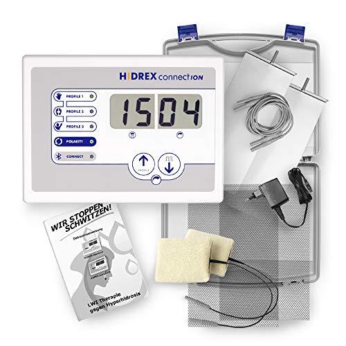 Hidrex connectION Iontophorese Gerät für Hände und Füße, professionelle Therapie gegen Schwitzen