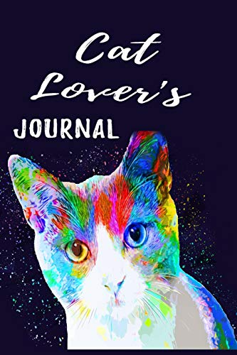 Cat Lover's Journal: Cool Cat Portrait Gifts: Lined journal: Unique Customized Interior Pages