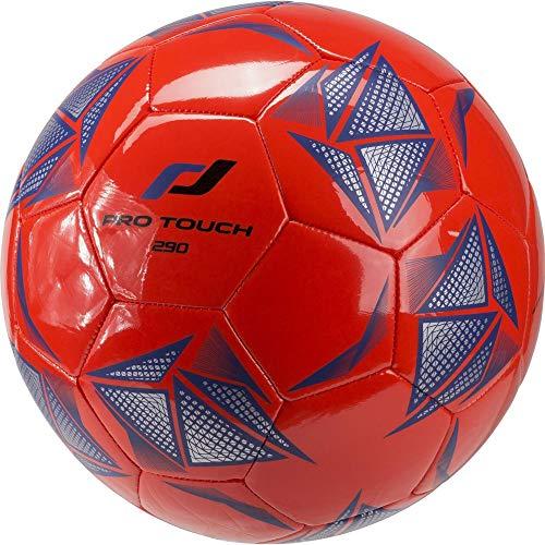 Pro Touch Fußball 290 Lite Ball, Orange/Silber/Blau, 4