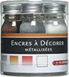 J. Herbin - 5 frascos de tinta pigmentada, 10 ml