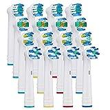 Testine per spazzolino da denti compatibili con testine di ricambio elettriche Oral B, incluse 4 precisione, 4 fili, 4 croci e 4 sbiancanti, confezione da 16