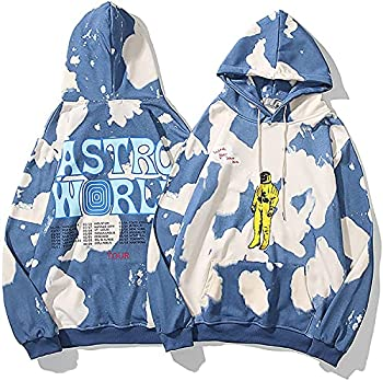 POPIER Kanye Hoodie Merch Kanye Lucky Me I See Ghosts Hoodie Trendy Hip Hop Pullover Heavyweight Sweatshirt Sweater Men Women  blue3,XXL