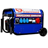 German Force GENERADOR ELECTRICO Gasolina Ruedas ASA Llave 15L 5500W (1000W...