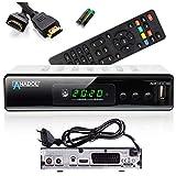 Anadol ADX 111c Full-HD 1080p digitaler Kabel-Receiver, PVR Aufnahmefunktion & Timeshift, HDTV-Receiver für alle Kabelanbieter geeignet, HDMI SCART DVB-C/2, mit automatisierter Senderinstallation