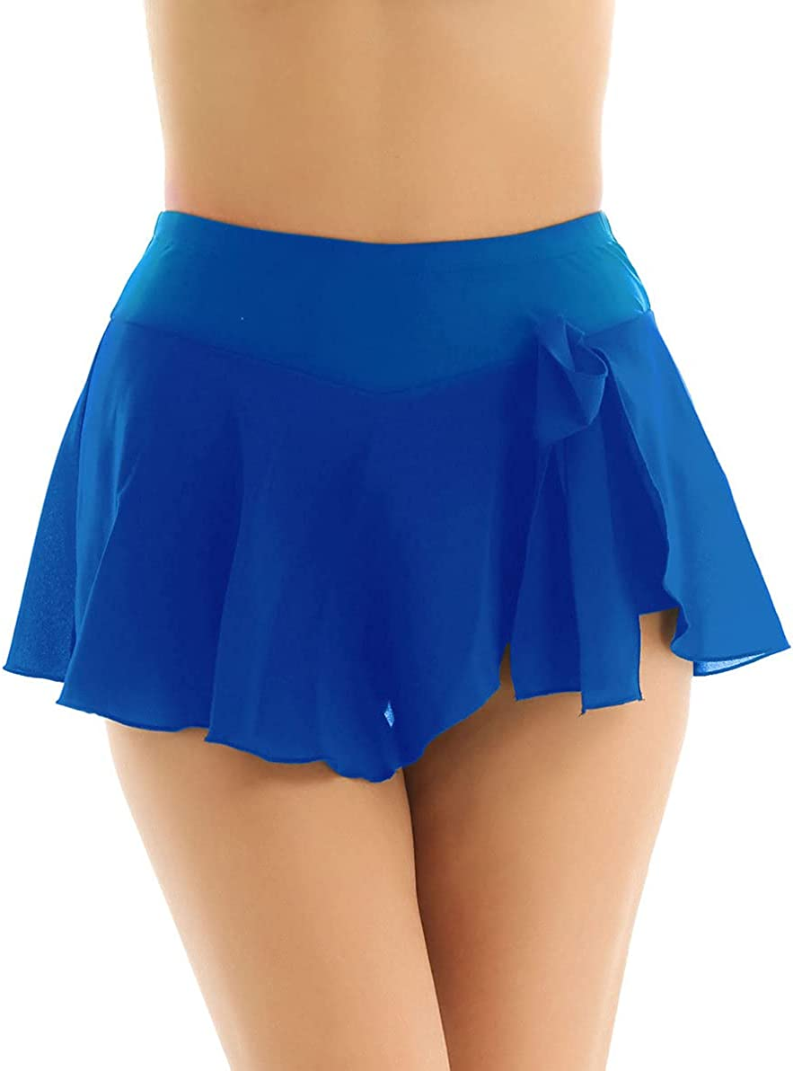 ranrann Women's Solid Color High Waist Activ Chiffon Soldering New products, world's highest quality popular! Short Skirt