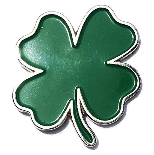 Applicable Pun Ireland Heritage Luck of The Irish Four Leaf Clover Enamel Pin - Lapel or Fabric Pin