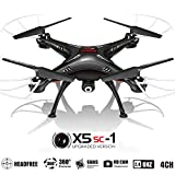 KiiToys Drone with Camera for Sale - X5SC Quadcopter RC Helicopter Drones -HD 720p Cam, Easy Control Headless Mode, 3D Flip, 6 Axis Gyroscope, 4 Channels Radio Control, USA Warranty & Tech Support