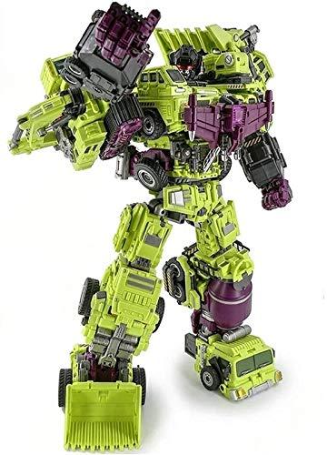 Optimus Prime Spielzeug Transformers Engineering Devastator Green Combiner Deformation Deformación de gran tamaño Robot Devastator TF Engineering Combiner 6 en 1 Figura de acción Modelo de camión de c