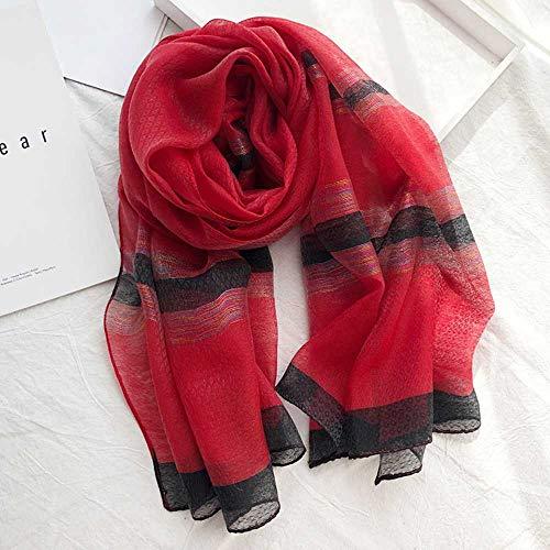 VIGCK Luxury Brand Hijab Winter Schal, Gold Line Cotton Muslim Schal Damen, Soft Pashminas, Tücher und Wraps, Sjaal Muslim Hijab, Cape