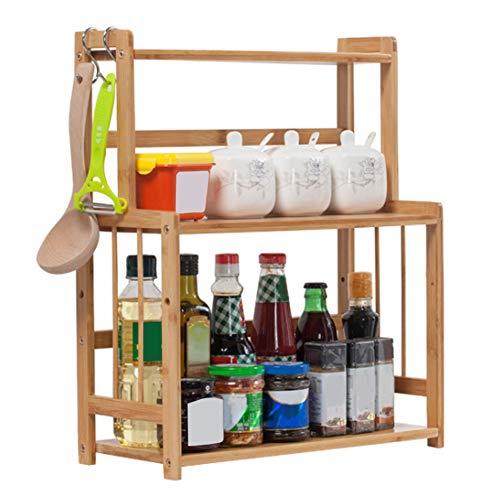 Rastrelliera portaoggetti da appoggio, ripiano multifunzione da appoggio cucina a 2 strati per condimento e spezie Organizzatore per ripiano per barattolo di spezie, lattina, bottiglia
