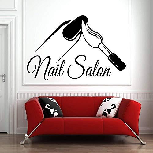Nagel muur sticker nagellak nagellak pedicure schoonheidssalon muur glas decoratie sticker woondecoratie waterdicht vinyl sticker 50.4x33.6cm