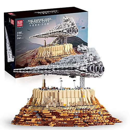 KEAYO Mould King 21007 - Juego de construcción de 5162 piezas grandes UCS Super Star Destroyer MOC, compatible con el destructor de estrellas Lego