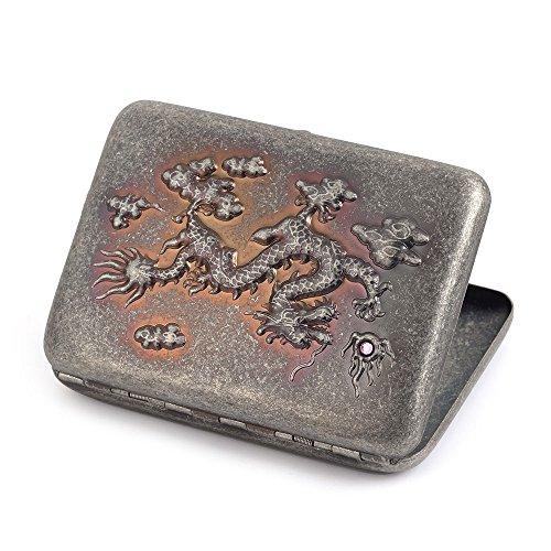 Zigarettenetui aus reinem Kupfer, fasst 16Zigaretten drache