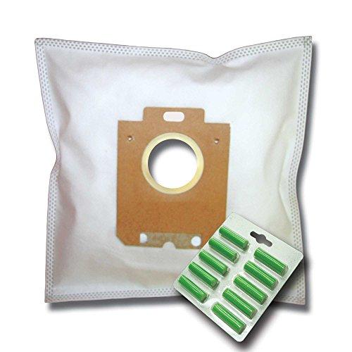 10 Staubsaugerbeutel + 10 Duftstäbe geeignet für AEG SilentPerformer ALLERGY & ANIMAL CARE ASP7150 ASP 7150