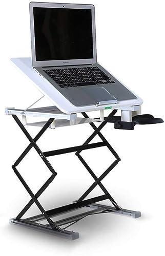 LZQ Laptop-Stehpult, Wandeln Sie Jede Oberfl e Sofort In Einen Stehpult Um  Größer Tisch-Steh-TischkonGrüner 2 Farben DropÃleaf-Tisch
