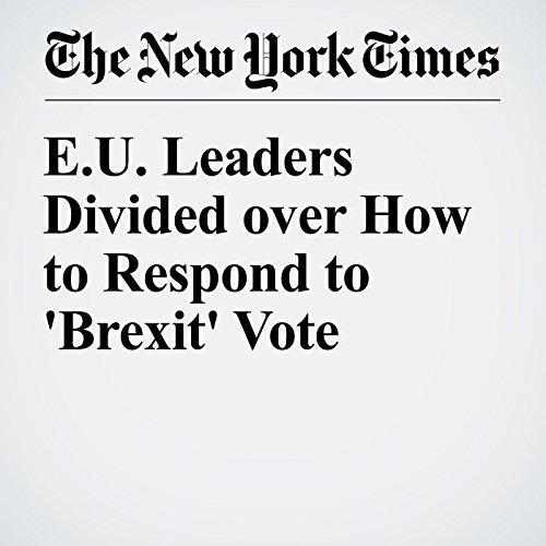 E.U. Leaders Divided over How to Respond to 'Brexit' Vote audiobook cover art