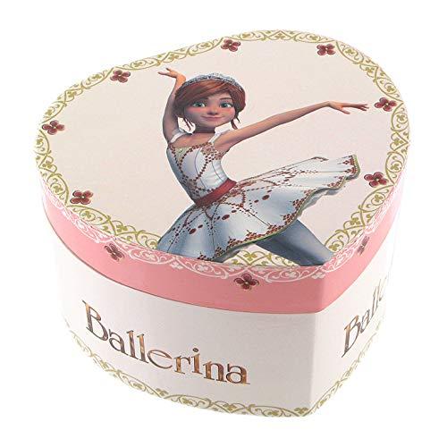 Schmuckkästchen / Schmuckdose / Schmuckschatulle aus Holz mit Spieluhr, tanzenden Ballerina und Félicie-Dekor, die kleine Ballerina aus dem Film