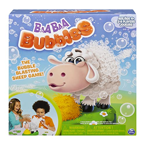 Spin Master Games Baa Baa Bubbles, Bubble-Blasting Game with Interactive Sneezing Sheep, for Kids Aged 4 and Up
