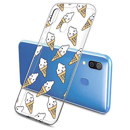Oihxse Silicona Funda Samsung Galaxy S4 Transparente Ultradelgado TPU Protector Carcasa Cover [Vistoso Postre Dulce Modelo Diseño ] Bumper Gel Case(Dulce A5)