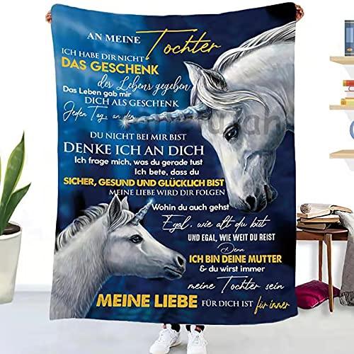 Ultraweiches Microfleece kuscheldecke, An Meine Tochter Personalisierte Nachricht Brief Decke, Überwurf Ultraweich/Warm/Gemütlich/Leicht Urlaub Picknick Strand Weihnachtsbüro Anti-Pilling Flanell
