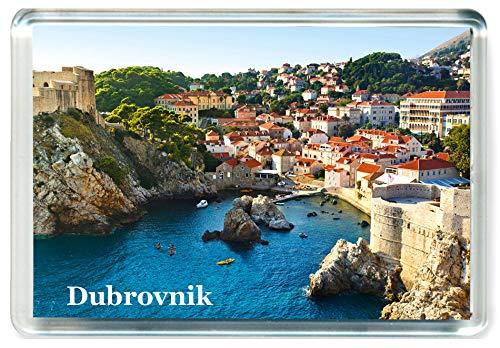 I465 Dubrovnik Jumbo imán de refrigerador - Imán para Nevera Croacia - Croatia Travel Fridge Magnet