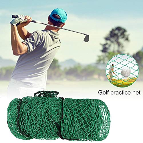 Thrivinger Golf Practice Net, Rete da Allenamento per Golf, Attrezzatura per Aiuti da Golf per Uso Interno Ed Esterno, 3x3m-verde