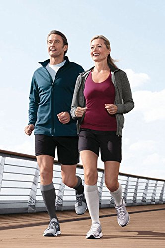 Jobst Sport - Calcetines deportivos (15-20 mmHg, talla S), color gris