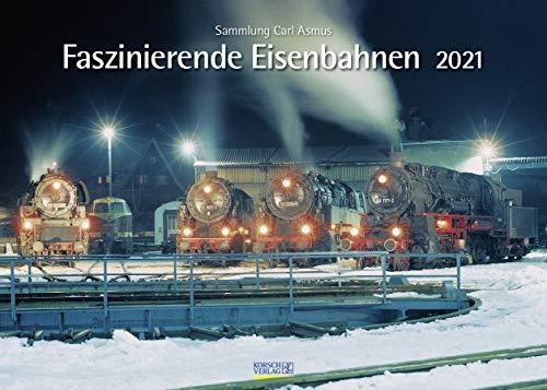Faszinierende Eisenbahnen 2021: Din A3 Wandkalender. Bildkalender zum Thema Züge
