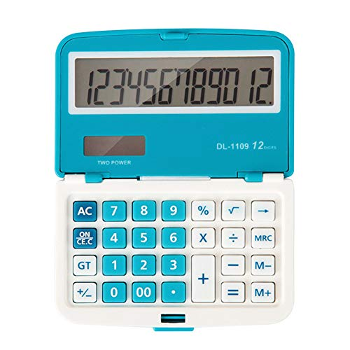 RoSoy 12 cijfers Solar Folding Mini Calculator Dual Power Office Electronic Handheld Pockets Calculator
