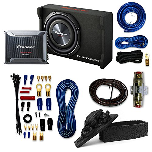 Pioneer Packages Pioneer GM-D8601 1600W Monoblock Class-D Car Amplifier with Pioneer TS-SWX2502...