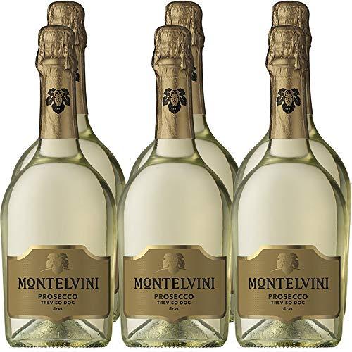 Prosecco Treviso Doc Brut | Montelvini | Collezione Master | Confezione 6 Bottiglie da 75 Cl | Idea Regalo