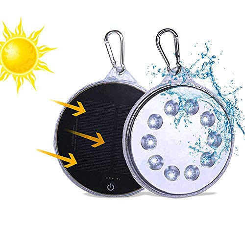 Solar Camping Lantern, Portable Emergency Lantern, Rechargeable Waterproof LED Tent Light with USB Charging for Home Outdoor Garden Fishing Hiking(1 Pack)