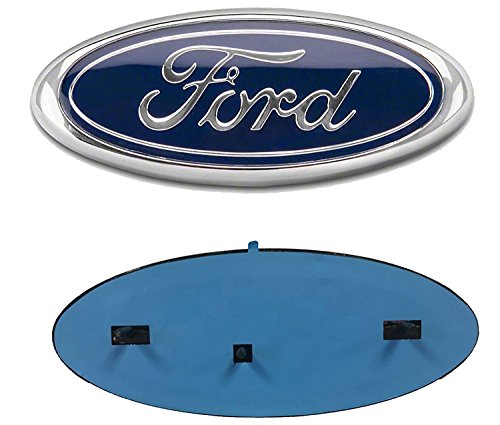 "2x Pack Compatible with FORD F150 Dark Blue Grille Tailgate Emblem 2005-14, Oval 9""X3.5"", 3 Mounting Tabs, Also Fits 05-07 F250 F350, 11-14 Edge, 11-16 Explorer, 06-11 Ranger"