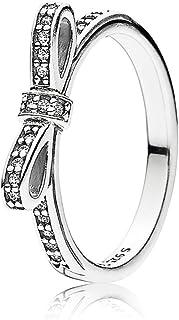 Pandora Women's Sterling Silver Cubic Zirconia 925 Silver Ring, 56 EU - 190906CZ-56