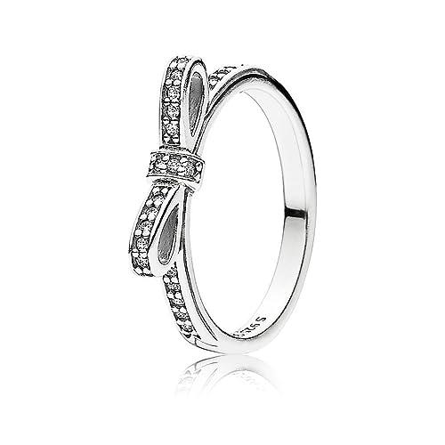 5fc13ee56 Pandora Women's Silver Cubic Zirconia Ring, ...