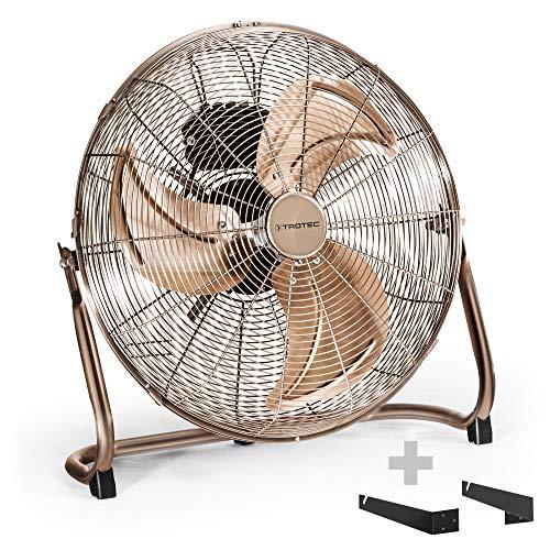 TROTEC TVM 17 Bodenventilator Kupfer Design Ventilator/Windmaschine inkl. Wand- und Deckenhalterung