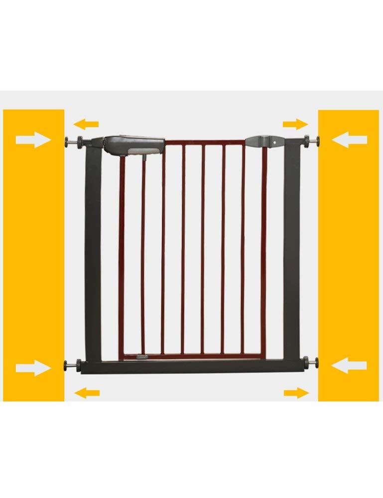 WYSFHL Puerta de Seguridad con Solapa de Gato, Puerta de Escalera de Seguridad, Ajuste a presión, Puerta de Seguridad Negra sin perforación, Puerta de Seguridad portátil, Adecuada for 75 a 84 cm: