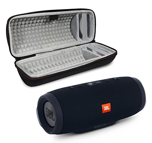 JBL Charge 3 Portable Wireless Bluetooth Speaker Bundle with Protective Case - Black