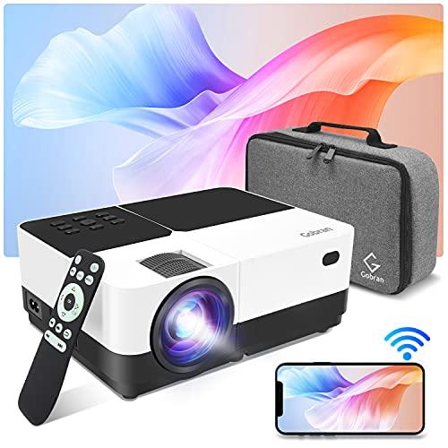 Proiettore WiFi Videoproiettore WiFi Supporta 1080P 6500 Lumen Condiviso Schermo Cellulare Connessione Wireless,Proiettore Home Theater Adatto per Smartphone iOS Android Telecamere PC Chiavetta TV