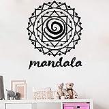 wZUN Mandala Pegatina de Pared extraíble decoración del hogar Yoga meditación Vinilo calcomanía decoración de Dormitorio 63X75cm