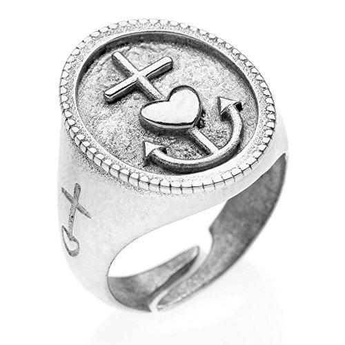 Chevalier Ring Glaube Liebe Hoffnung (Silber)