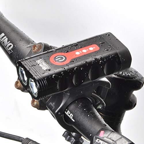 Zvivi Mountainbike Fahrrad Scheinwerfer LED Starke Lichtscheinwerfer Fahrrad Scheinwerfer Lade Nacht Reiten Licht Beleuchtung Scheinwerfer
