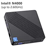 Mini PC Fanless Intel Celeron N4000 (up to 2.6GHz) 4GB DDR/64GB eMMC Mini...