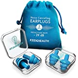 KEENHEALTH Reusable Soft Silicone Earplugs for Noise Reduction, Noise Cancelling Ear Plugs for Shooting Range, Secure & Comfortable Ear Protection for Work, Hypoallergenic Ear Plugs for Swimming