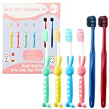 Soft Toothbrushes, 6 Pack Tooth Brush Set Soft Bristles Toothbrush Bulk Travel Toothbrush Kit Clean Manual Toothbrush Kids Toothbrush Family Toothbrushes Pack Gifts for Sensitive Gum Toddler Baby